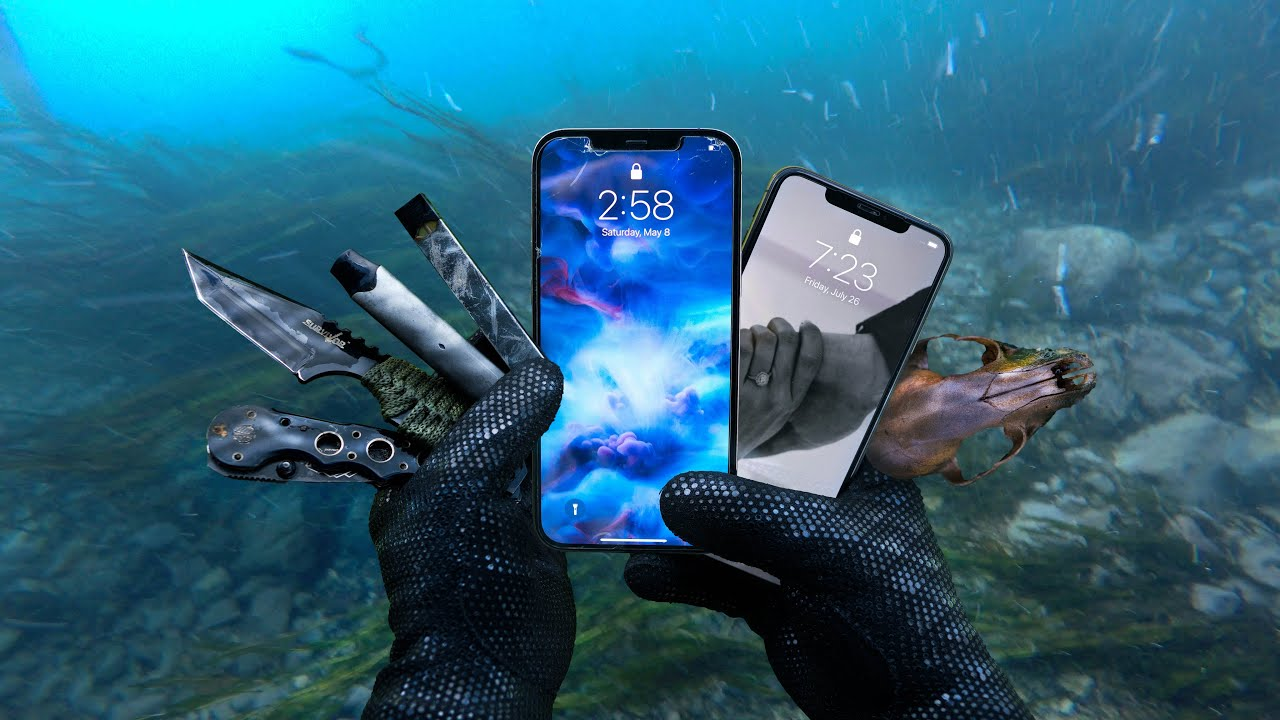 Found Working iPhone 12 Pro Max & iPhone X Underwater in River