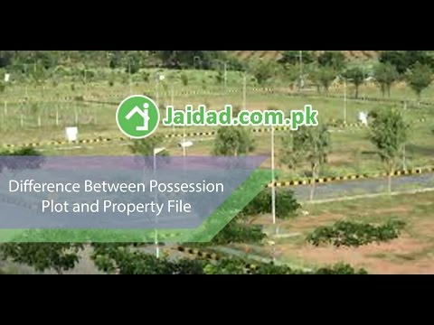 What is the difference between plot and file of property in private housing society