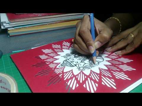 DIY Art : How to Make Aluminium Foil Repousse Ganesh Art