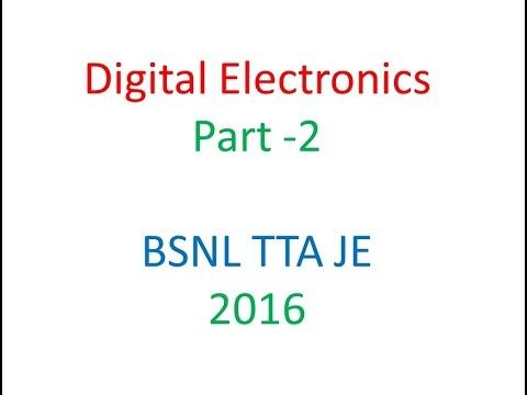 Digital Electronics Part 2 for BSNL TTA JE