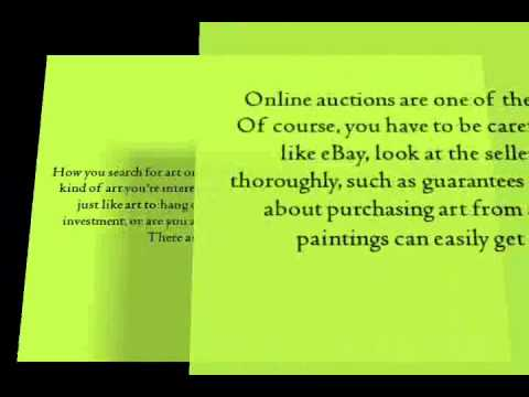 Paintings For Sale Online: Some Tips For Buying Art