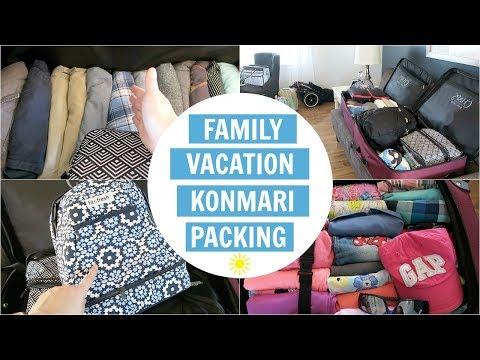 Travel Vlog   KonMari Family Packing for 5