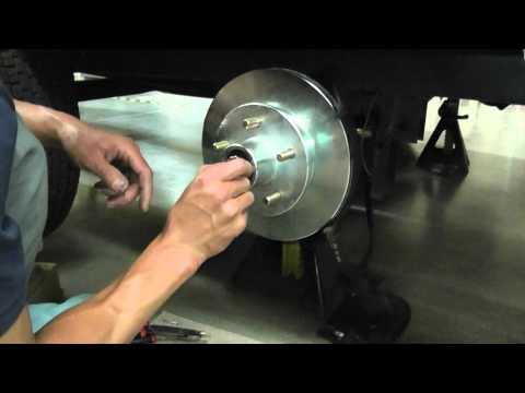 Asian Bass Guy UFP DB-42 Trailer brakes hub, disc, pads install