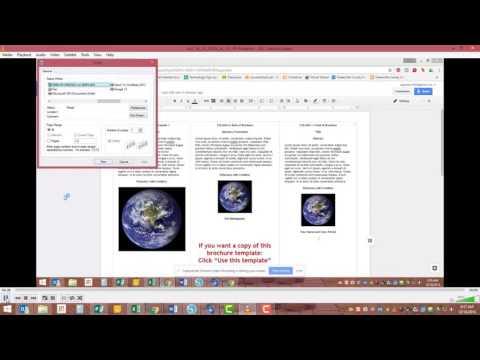 Brochure Printing in Google Docs