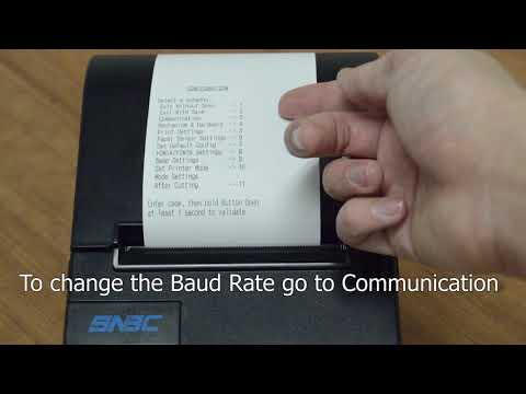SNBC printer push button configuration