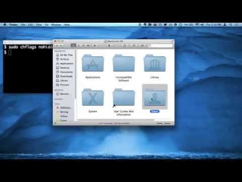 How to Make /Users Folder Visible in Mac OS X 10.9.3