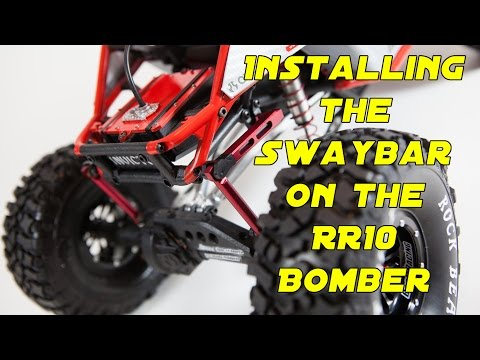 How to install the swaybar on the Axial RR10 Bomber INVICTUS project