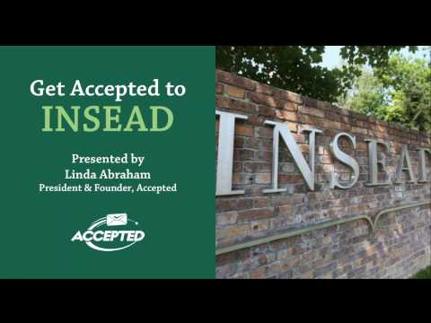Get Accepted to INSEAD