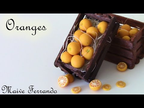 Miniature Polymer Clay Orange Cane Tutorial || Maive Ferrando