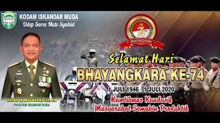 PANGDAM IM   DIRGAHAYU BHAYANGKARA KE 74