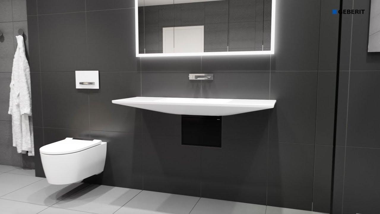 Geberit ONE floating wash basin - Installation