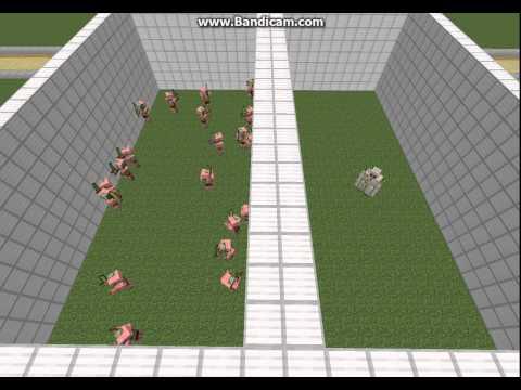Minecraft   20 Zombie Pigmen vs 1 Iron Golem