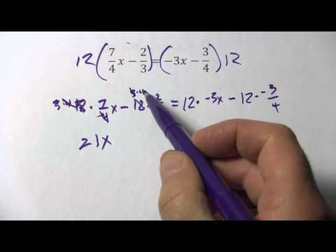 Solving Linear Equations with Variables on Both Sides and Fractional Coefficients
