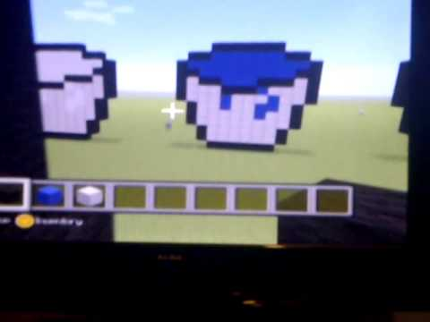 Minecraft xbox 360 How to build a water bucket Statue