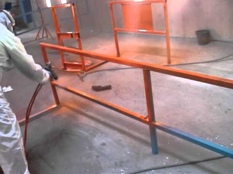 electrostatic spray painting