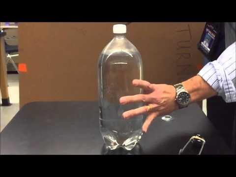 Soda Bottle Model of Volcanic Eruption in slow motion
