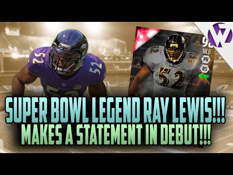 Madden 16 SUPER BOWL LEGEND RAY LEWIS MAKES A STATEMENT IN DEBUT! - Madden 16 Ultimate Team Gameplay