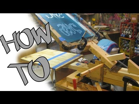How To Make A One Color Silk Screen Press For Less Than 50$