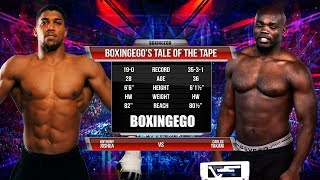 ANTHONY JOSHUA VS CARLOS TAKAM Tale Of The Tape (BOXINGEGO FIRST LOOK)