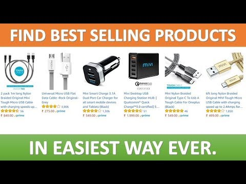 Easiest Way To Find Out Best Selling Products In Amazon