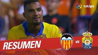 Resumen de Valencia CF vs UD Las Palmas (2-4)