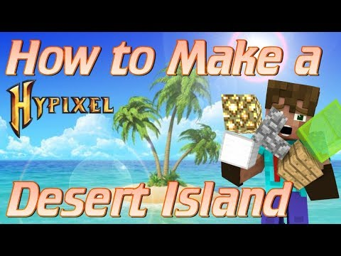 How to Build a Desert Island in Minecraft | Minecraft Lets Build Hypixel Build Battles Tutorial