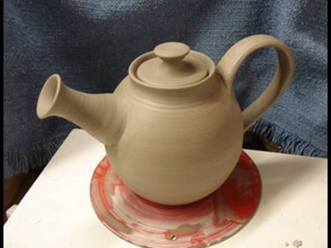 Throwing / making a clay pottery tea pot on the wheel how to make demo