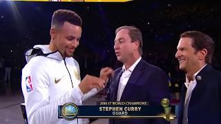 Golden State Warriors - FULL 2017 Championship Ring Ceremony