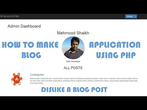 PHP BLOG Application - Dislike a Post Part-12