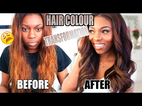 HOW I CHANGED MY HAIR COLOUR AFTER BLEACHING FAIL! HONEY CHOCOLATE BROWN ad