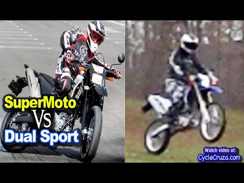 SuperMoto vs Dual Sport Motorcycle - Off-Road Action! | MotoVlog