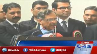 Nominated CJ Pakistan Saqib Nisar address the LHC Silver Jubilee celebrations