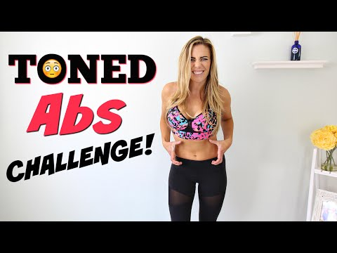 Toned Abs Challenge Workout | Fitness Tracker Test