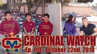 Cardinal Watch: ep. 110 - October 22nd, 2018