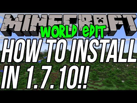 How To Install World Edit In Minecraft 1.7.10 Single Player