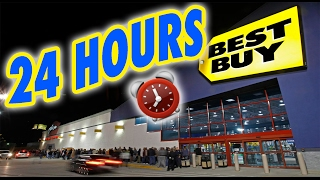 (SCARY!) 24 HOUR OVERNIGHT in BEST BUY | LOCKED OVERNIGHT CHALLENGE in BEST BUY FORT!