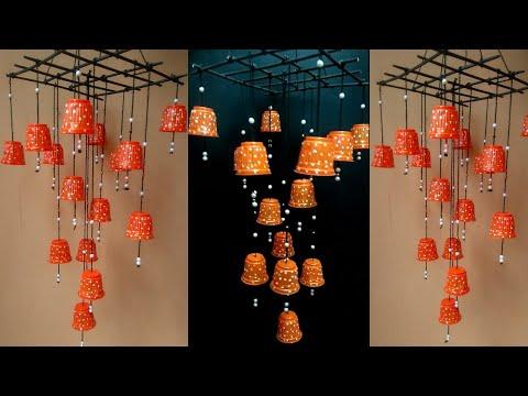 DIY II  Plastic cups amazing Wind chime design