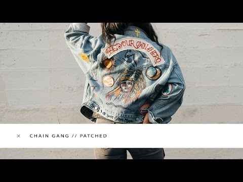 CHAIN GANG PATCHED DIY DENIM JACKET // IMLVH