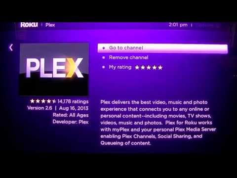 Watching Youtube Videos on Roku Using Plex Channel