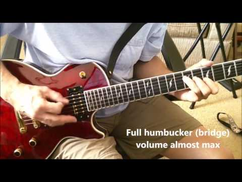 Les Paul Gibson Dirty Fingers clean and dirty tones