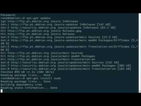 Debian 8 Sudo Installation and Configuration