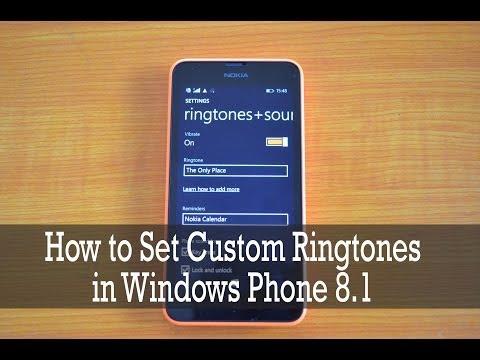 How to set Custom Ringtones on Windows Phone 8