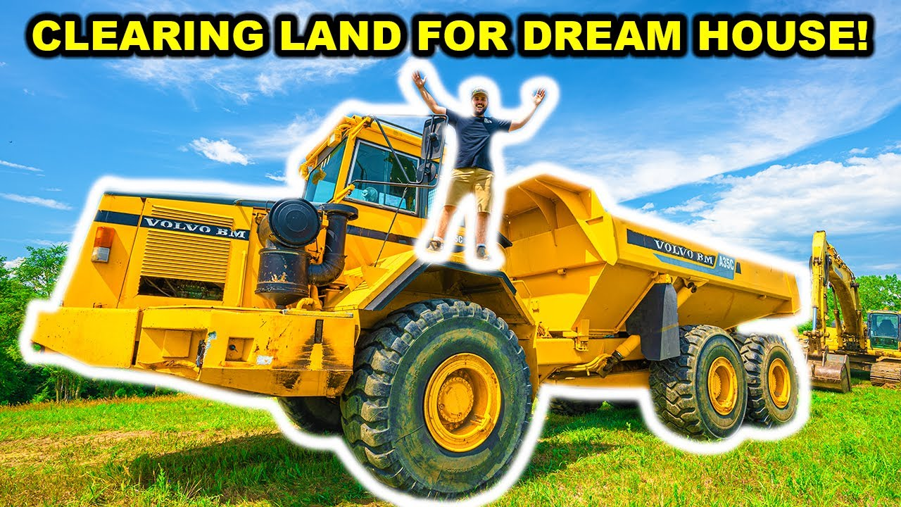 CLEARING LAND for My NEW DREAM HOUSE Property!!! (Dozer, Excavator, Dump Truck)