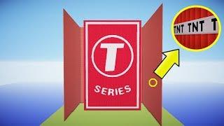 100,000 TNT vs T-SERIES & PEWDIEPIE   Minecraft
