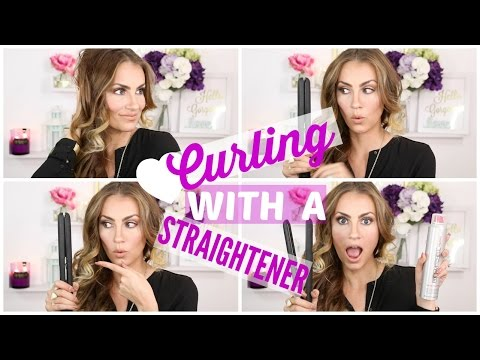 How To: Curl Your Hair with a Straightener - EASY Tutorial!