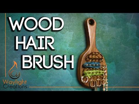 Wood Hair Brush - Wall Storage