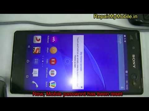 Remove password of Sony Xperia c3 Dual By Tool
