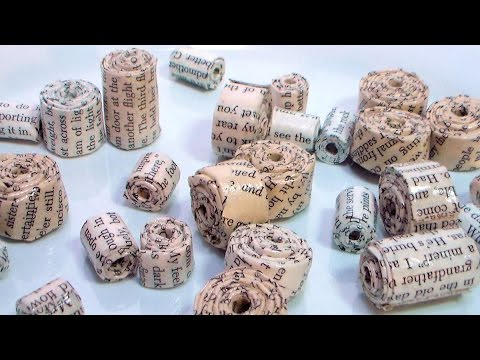 Old Book Page Paper Beads!