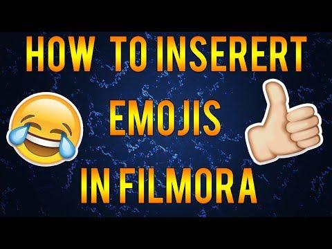 How to insert emojis in Wondershare Filmora