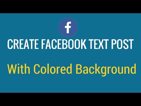 How to create facebook text post with colored background